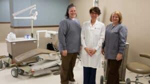 Mobile Unit Dentist and Assistants.