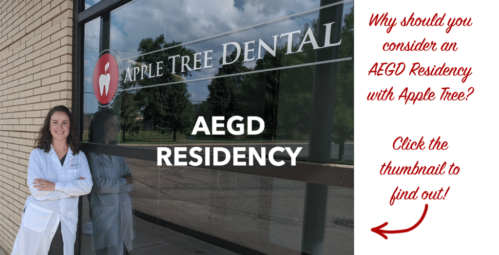 Clickable image that links to new AEGD Residency marketing video