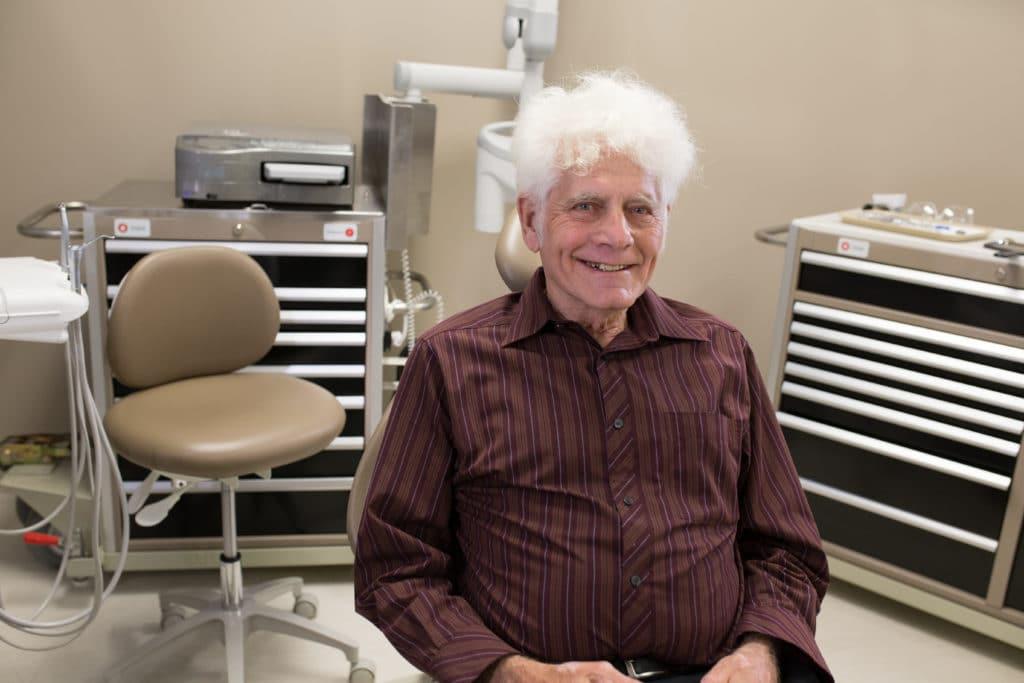 elderly patient smiling